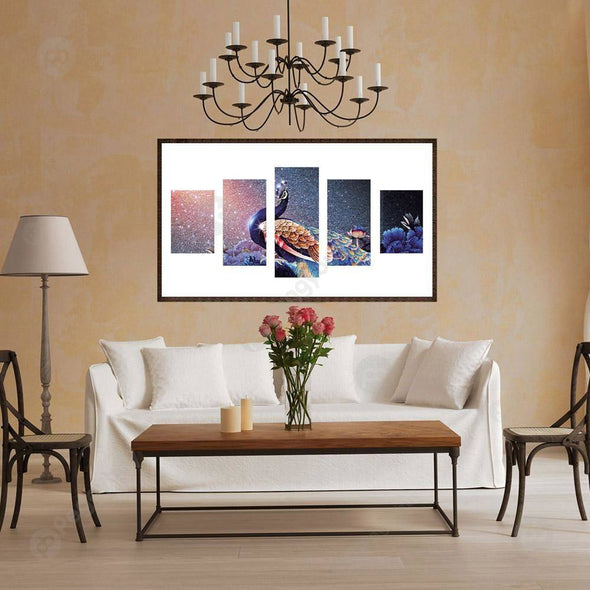 95*45CM Multi-picture Diamond Painting-5pcs-Peacock