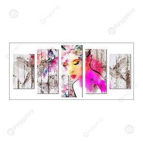95*45CM Multi-picture Diamond Painting-5pcs-Women