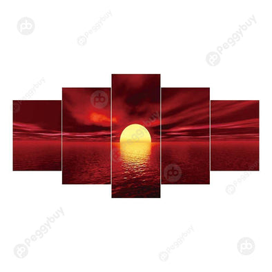 95*45CM Multi-picture Diamond Painting-5pcs-Sunrise