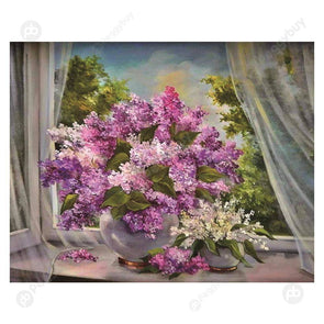 30*25CM Special Shaped Diamond Painting-Flowers Pots