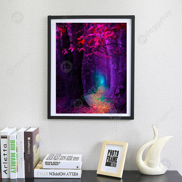 40*30CM Round Drill Diamond Painting-Colorful Forest