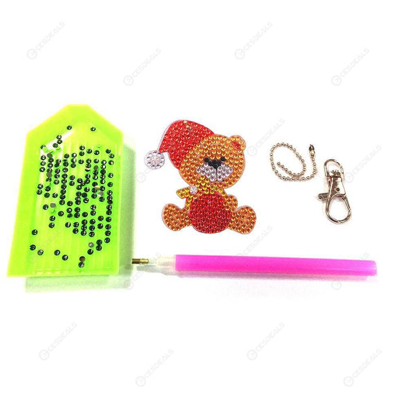 4pcs Cute Animal-DIY Creative Diamond Keychain