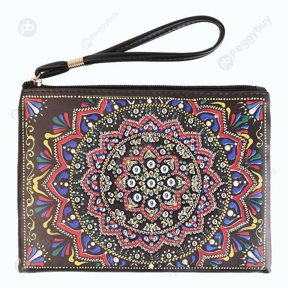 Mandala-DIY Creative Diamond Wristlet Bag