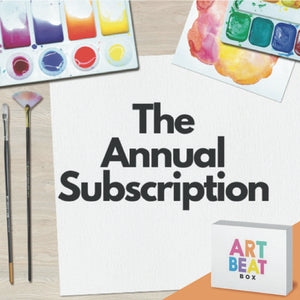 Annual Art Box Subscription (4 Boxes Per Year/3 Projects Per Box)