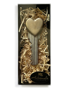 Heart Key - Dark, Milk or White Chocolate - Gift Box