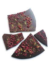 Load image into Gallery viewer, Raspberry & Pistachio - Dark, Milk or White Chocolate - Gift Box