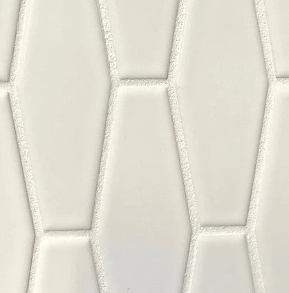 White Elongated Hex Tile