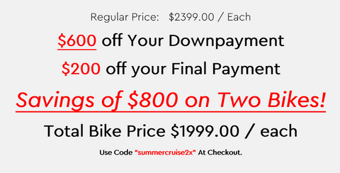 2 Bike $800 off deal