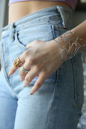 pointer and middle finger rings