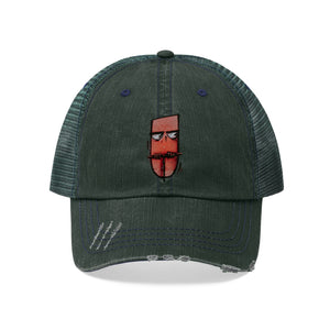 "Time To Blow Up - Embroidered Design on ""Distressed Look"" Trucker Hat"