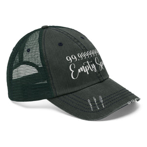 "99.9999999% Empty Space - Embroidered Design on ""Distressed Look"" Trucker Hat"