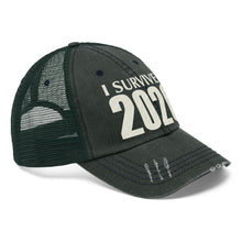 "Load image into Gallery viewer, I Survived 2020 - Embroidered Design on ""Distressed Look"" Trucker Hat"