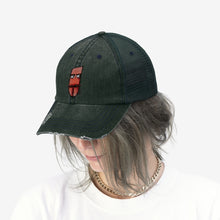 "Load image into Gallery viewer, Time To Blow Up - Embroidered Design on ""Distressed Look"" Trucker Hat"