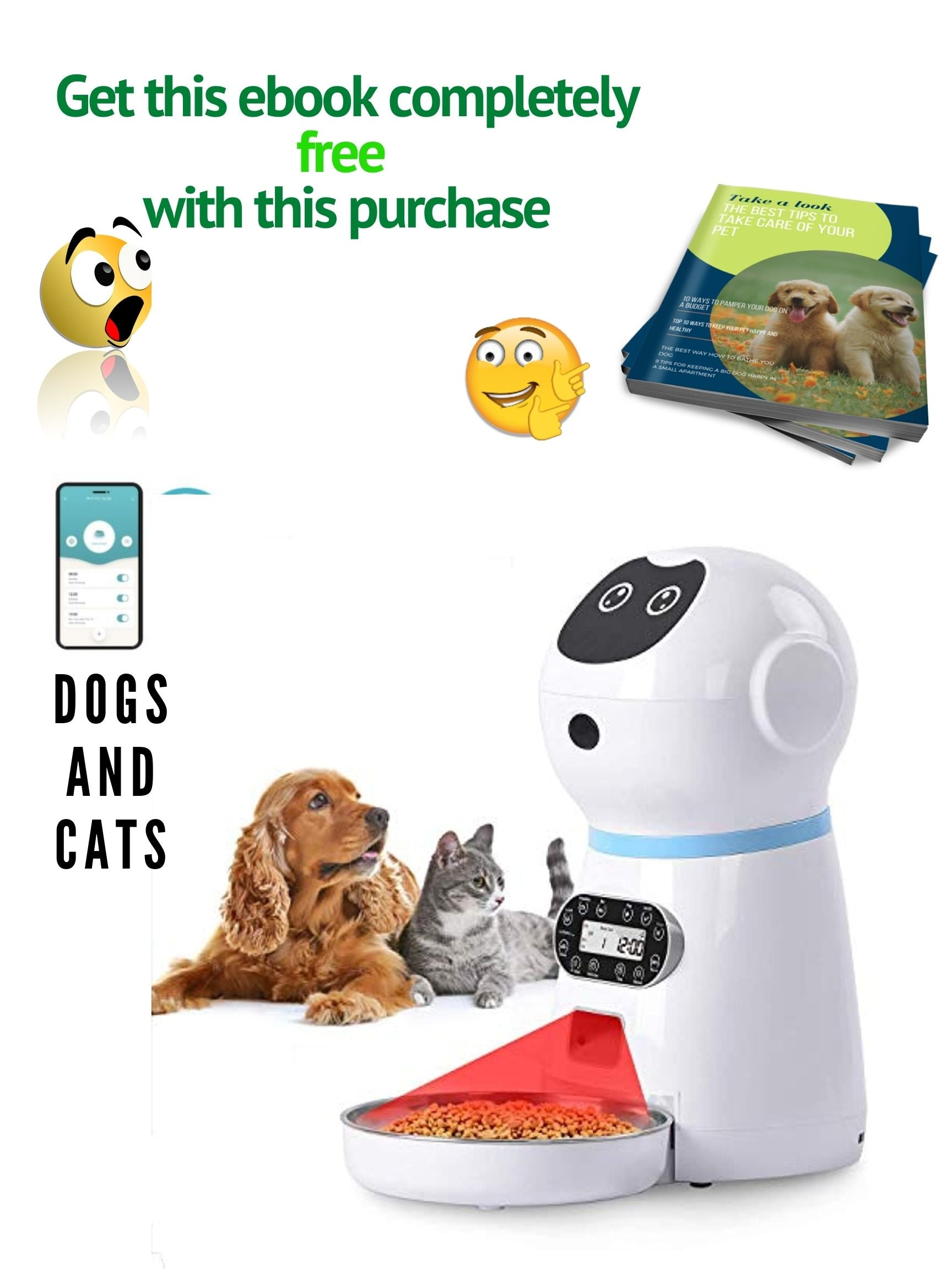 Automatic Cat And Dog Food Dispenser 118oz 3 5l Stainless Steel Timer Wow Store 2021