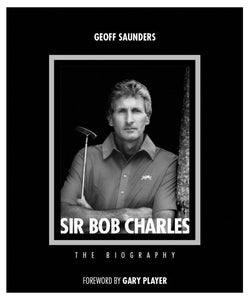 Bob Charles Book, the story of Bob Chalres, iconic New Zealander and his journey as a golf professional. This is the first book written about his story in an official capacity. Bob Chalres is pictured here in the late 70s. This image is used on the cover of both editions of the book.
