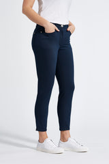 Amy Slim Cropped Byxor - Navy