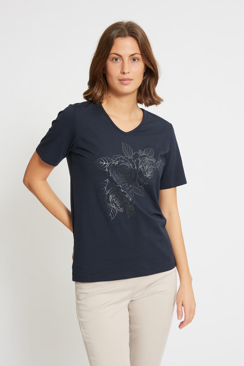 Diaz Flower - Navy
