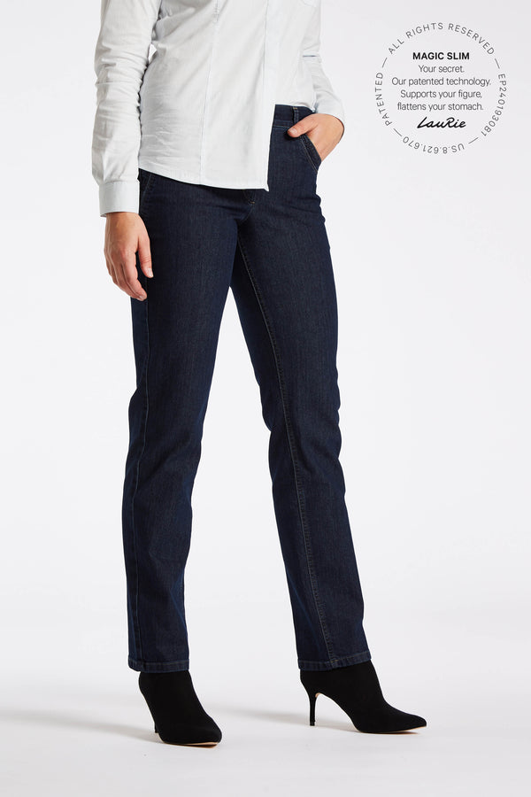 Dolly Regular Byxor - Dark Blue Denim
