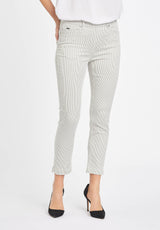 Faith Slim Crop - Khaki Stripe