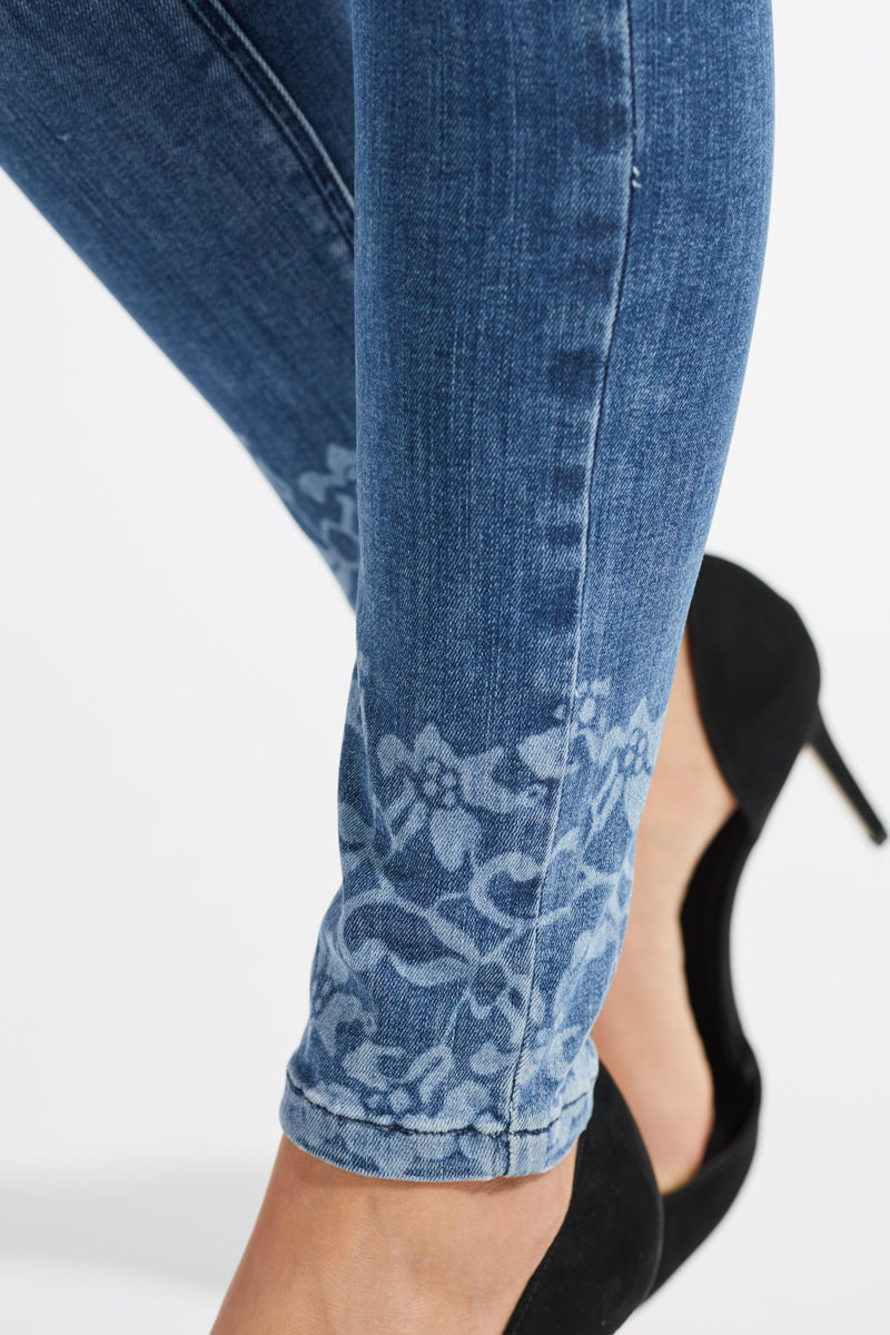 Olivia Lazer Skinny SL - Medium Blue Denim