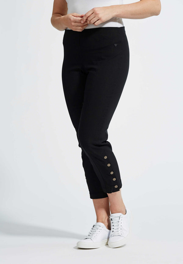 Polly Regular Cropped Byxor - Black