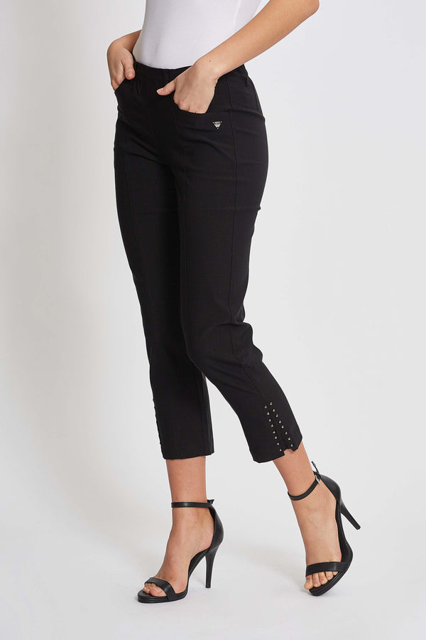 Pollyanna Regular Byxor Cropped - Black
