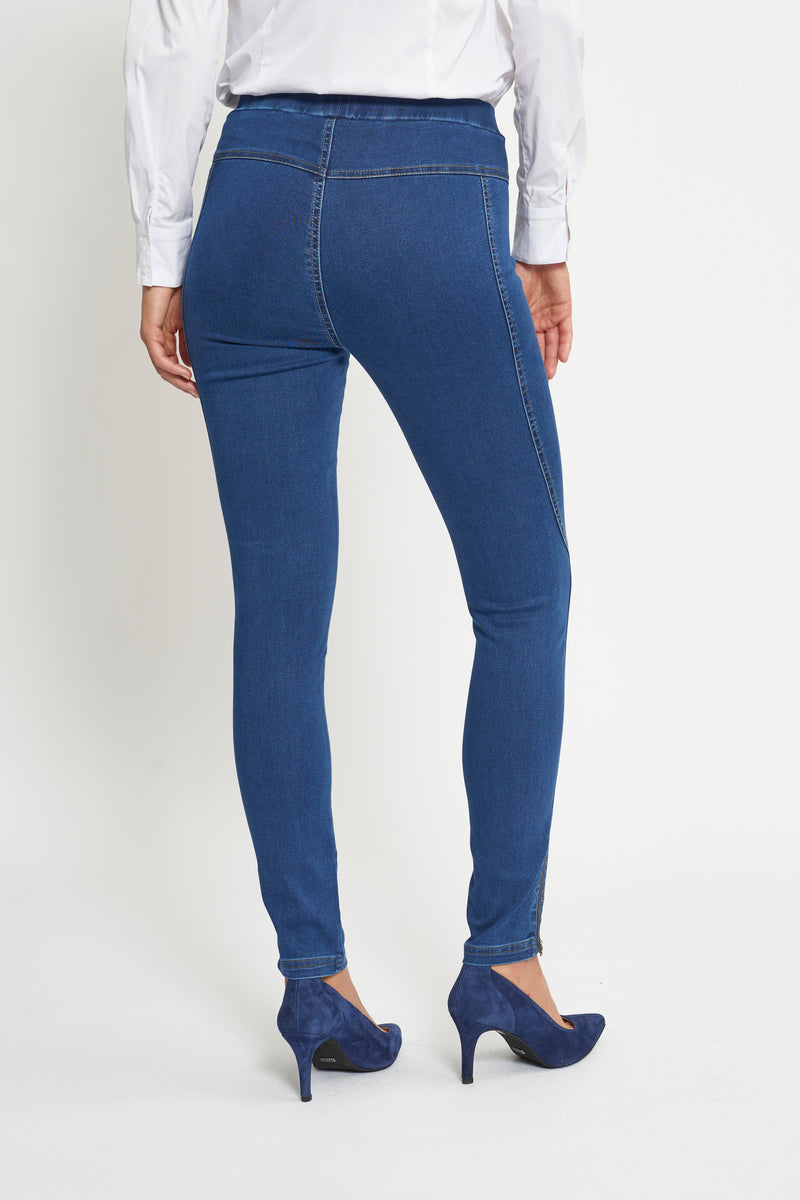 Stella Skinny Byxor - Medium Blue Denim
