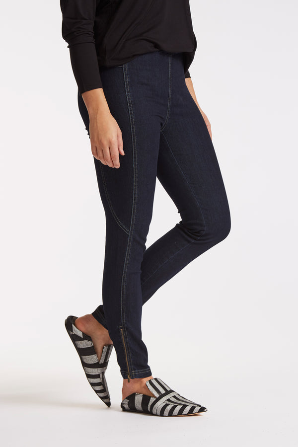 Stella Skinny Byxor - Dark Blue Denim