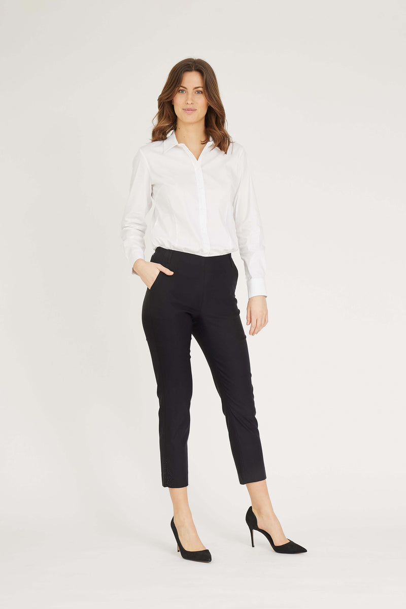 Taylor Hot Regular Crop - Black plain