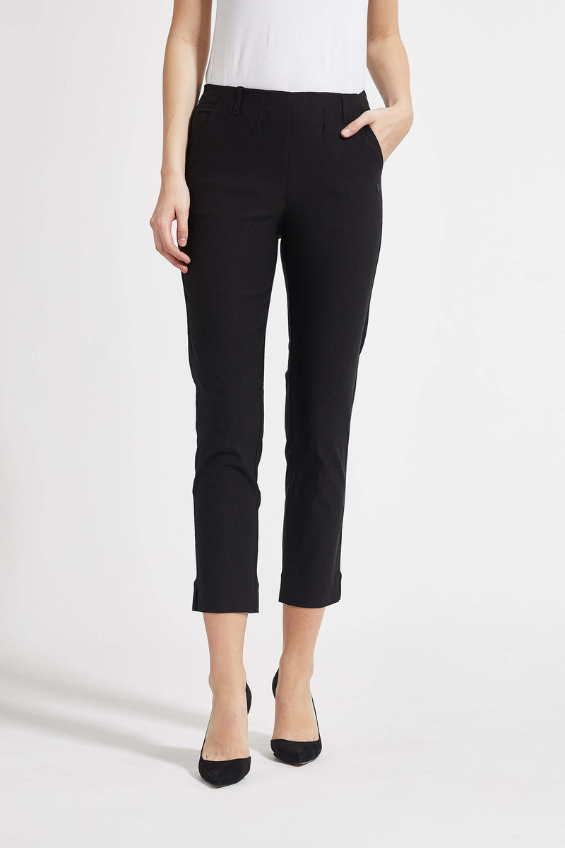 Taylor Regular Cropped Byxor - Black