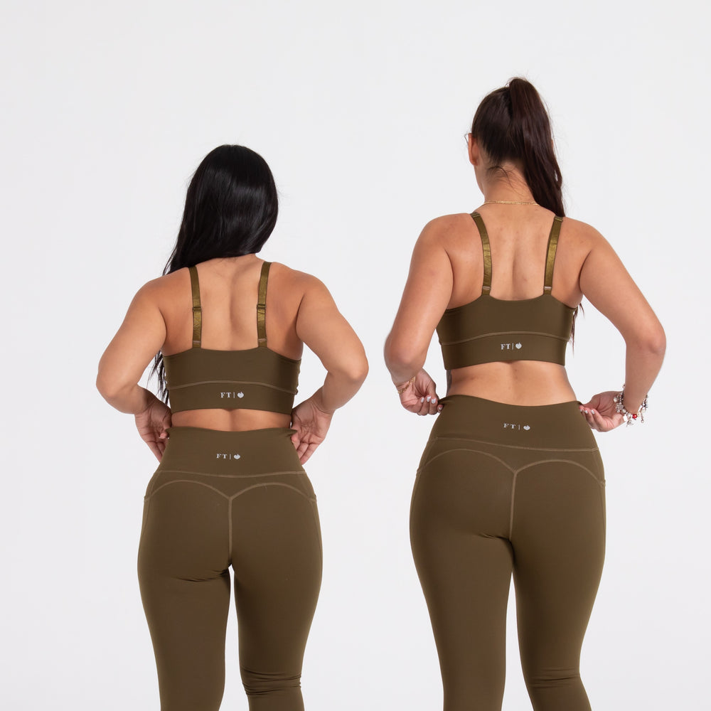 Load image into Gallery viewer, Olive Sports Bra