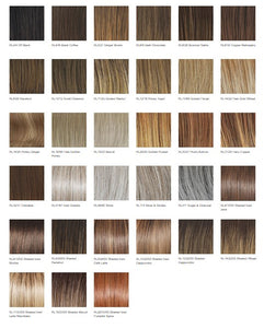 Raquel Welch Crowd Pleaser Heat Friendly Synthetic Wig Color Chart