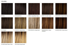 Load image into Gallery viewer, Raquel Welch Textured Cut Heat Friendly Synthetic Wig Color Chart
