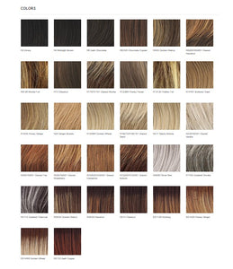 Raquel Welch Free Spirit Vibralite Synthetic Wig Color Chart