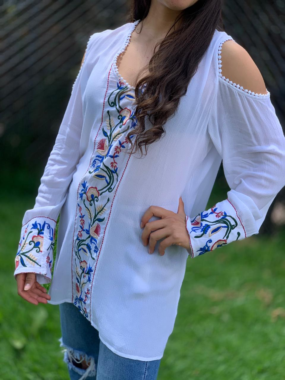 Blusa Apika oriental PPM45 - BOUTIQUE DE LA INDIA
