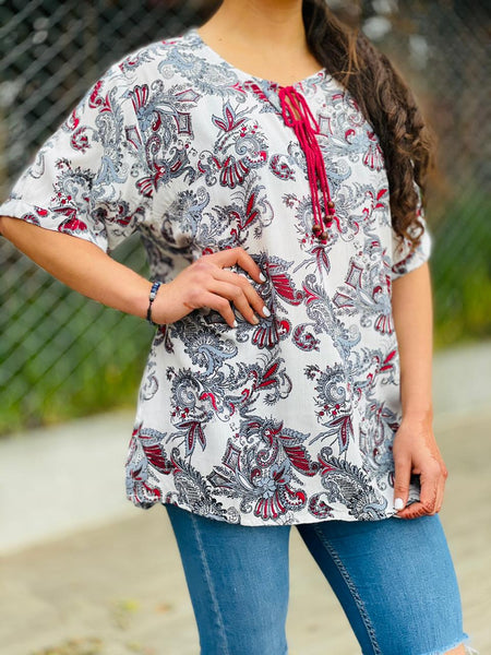 Blusa Yedra Oriental #35 PPM29 - BOUTIQUE DE LA INDIA