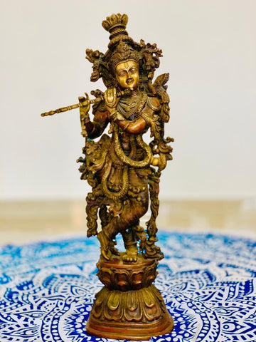 Estatuilla de Krishna de la India  PPM1990