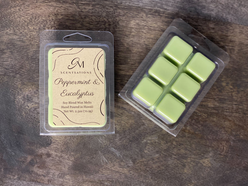 Peppermint & Eucalyptus Clamshell Wax Melt