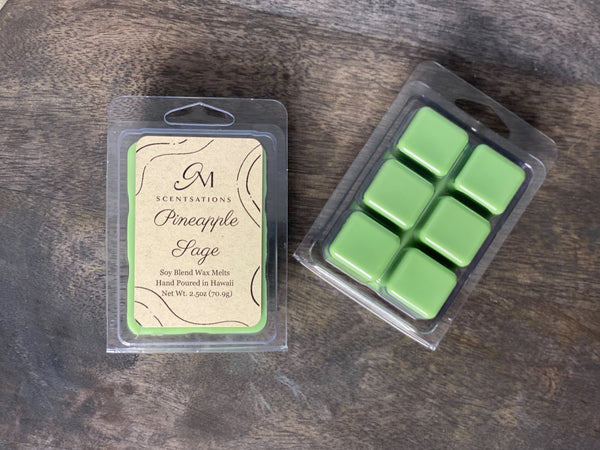 Pineapple Sage Clamshell Wax Melt