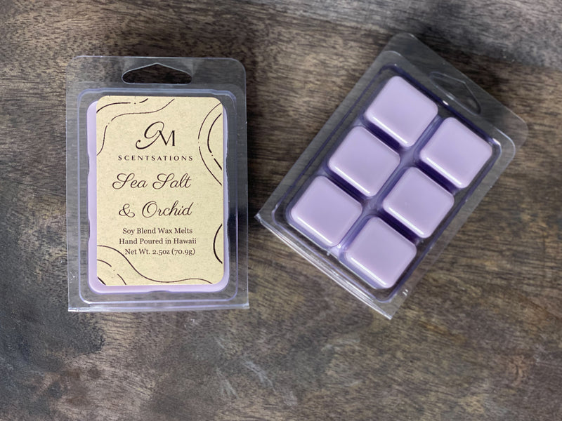 Sea Salt & Orchid Clamshell Wax Melt
