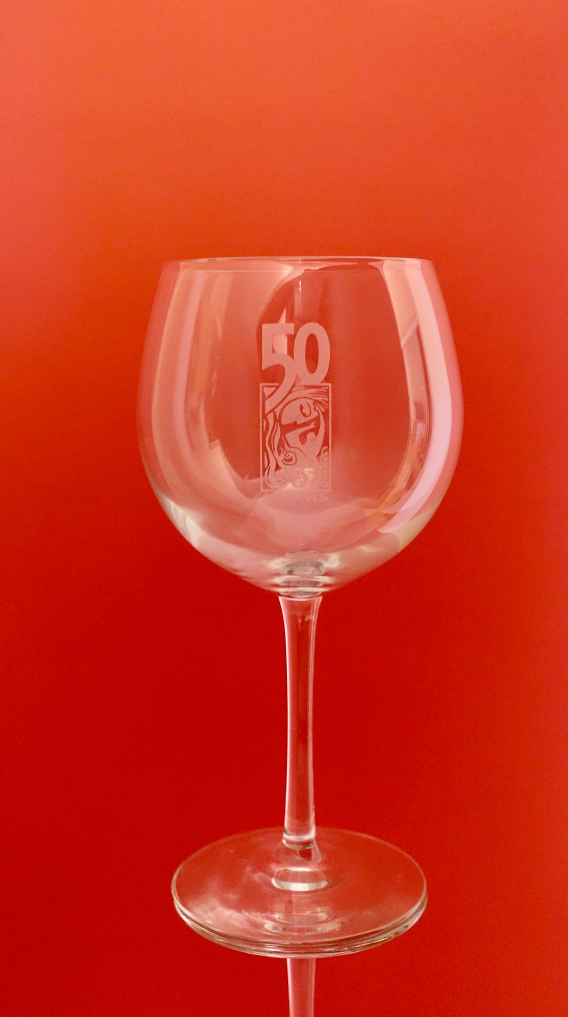 50th Anniversary Red Wine Glasses