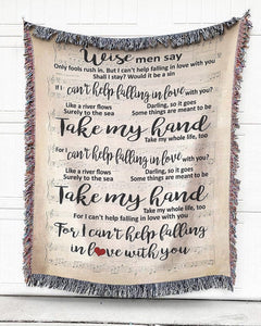 Foal14 Woven Throw For Husband Birthday Gift, Wise Men Say, Cotton Blanket