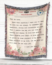Load image into Gallery viewer, Foal14 Woven Throw For Wife Anniversary Gift, Message For Wife, Cotton Blanket