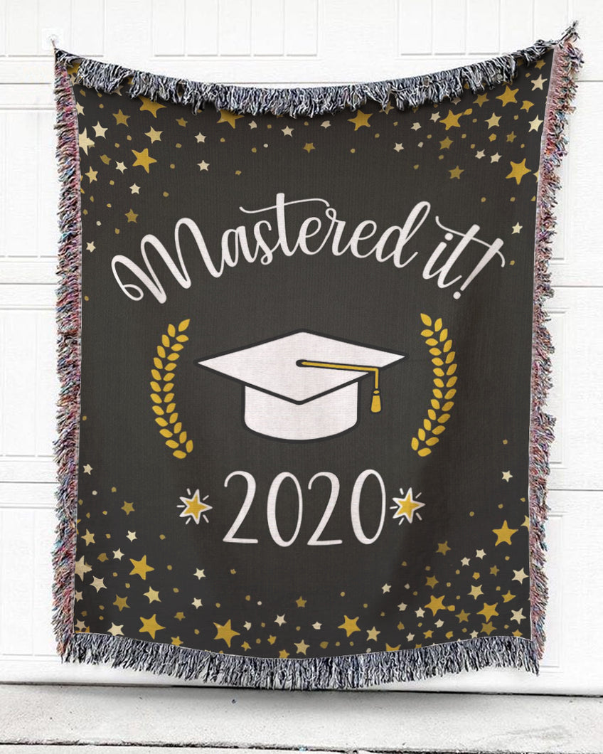 Foal14 Woven Throw For Graduation Home Decor, Mastered It, Cotton Blanket