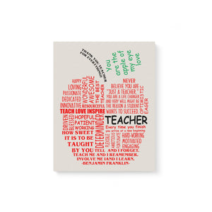For Teacher Apple Canvas