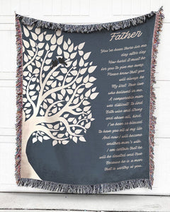 Foal14 Woven Throw For Father Pre-Wedding Day Gift, Father - My First True Love, Cotton Blanket