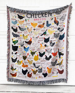 Foal14 Woven Throw For Animal Lovers Christmas Gift, Chicken Breeds, Cotton Blanket