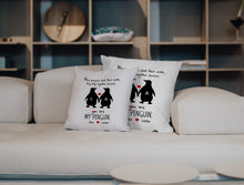 Load image into Gallery viewer, FOAL14 Personalized Pillow Valentine Gift, You Are My Penguin, With Personalized Names