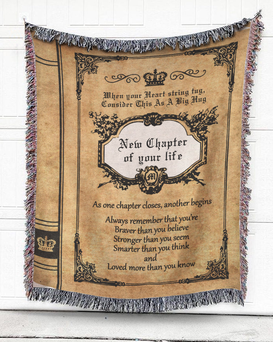 Foal14 Woven Throw For Husband And Wife Anniversary Gift, New Chapter, Cotton Blanket
