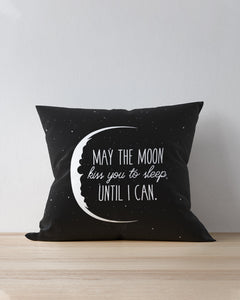 FOAL14 Pillow For Partner Valentine Gift, Night Sky - May The Moon Kiss You To Sleep, Home Decor